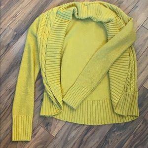 Mossimo Mustard Yellow cardigan